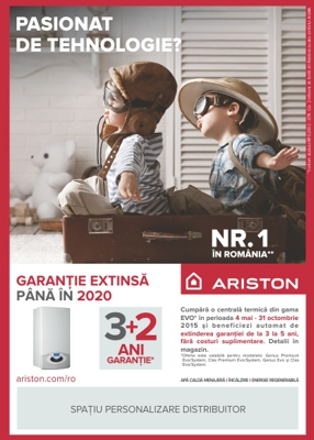 Campanie garantie extinsa pentru centralele Ariston GAMA EVO*