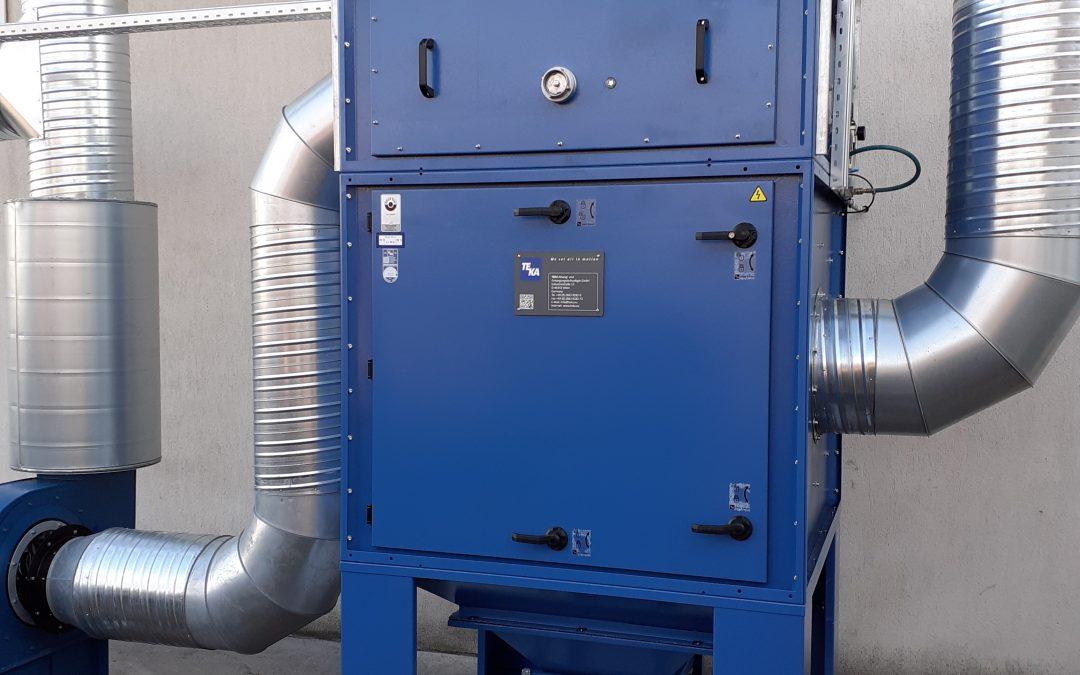 Instalatie de aspiratie si filtrare praf si fum provenit de la slefuire si sudura